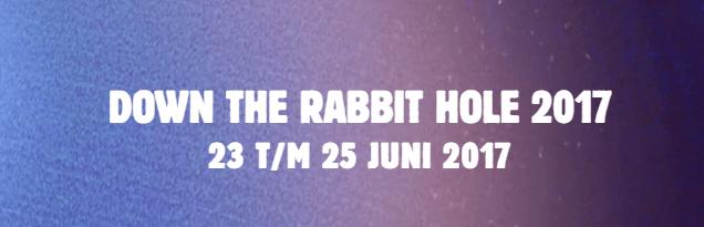 Kaartverkoop Down The Rabbit Hole van start
