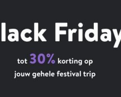 Black Friday: Tot 30% korting op festival tickets