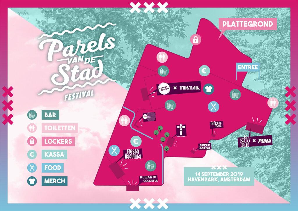 Parels van de stad plattegrond 2019