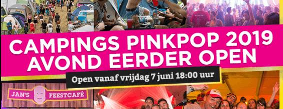 Camping Pinkpop al op vrijdag open
