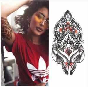 Henna body temporary tattoo