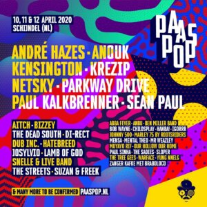 Line-up deel 1 Paaspop 2020